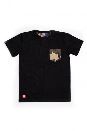 Woodland Camo Pocket Black